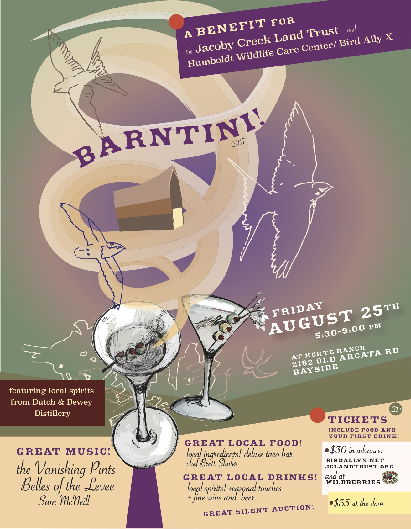 BARNTINI! the 4th annual fundraiser for Jacoby Creek Land